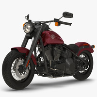 3d model harley davidson softail slim