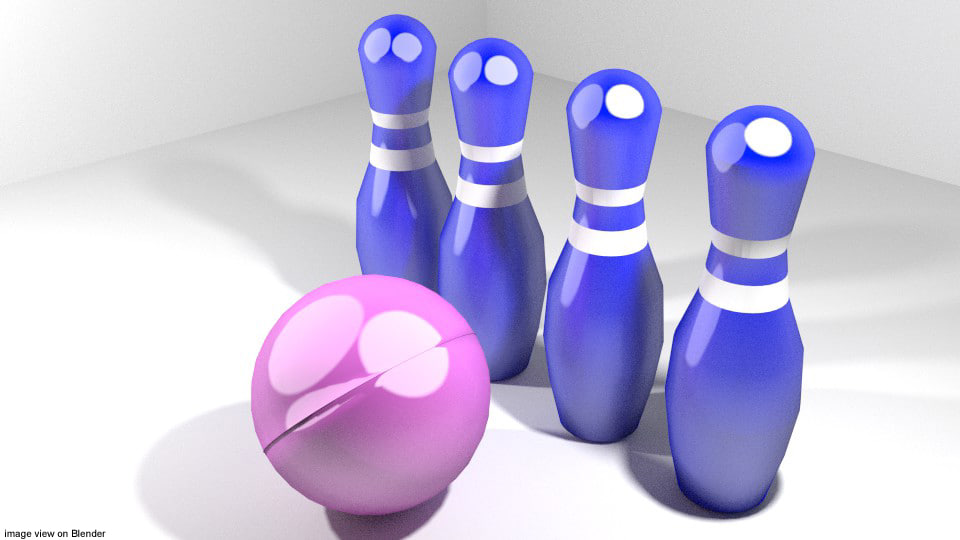bowling toy 3d model
