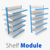 3d model shelf supermarket