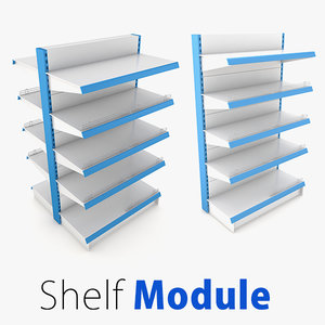 3d model shelf supermarket