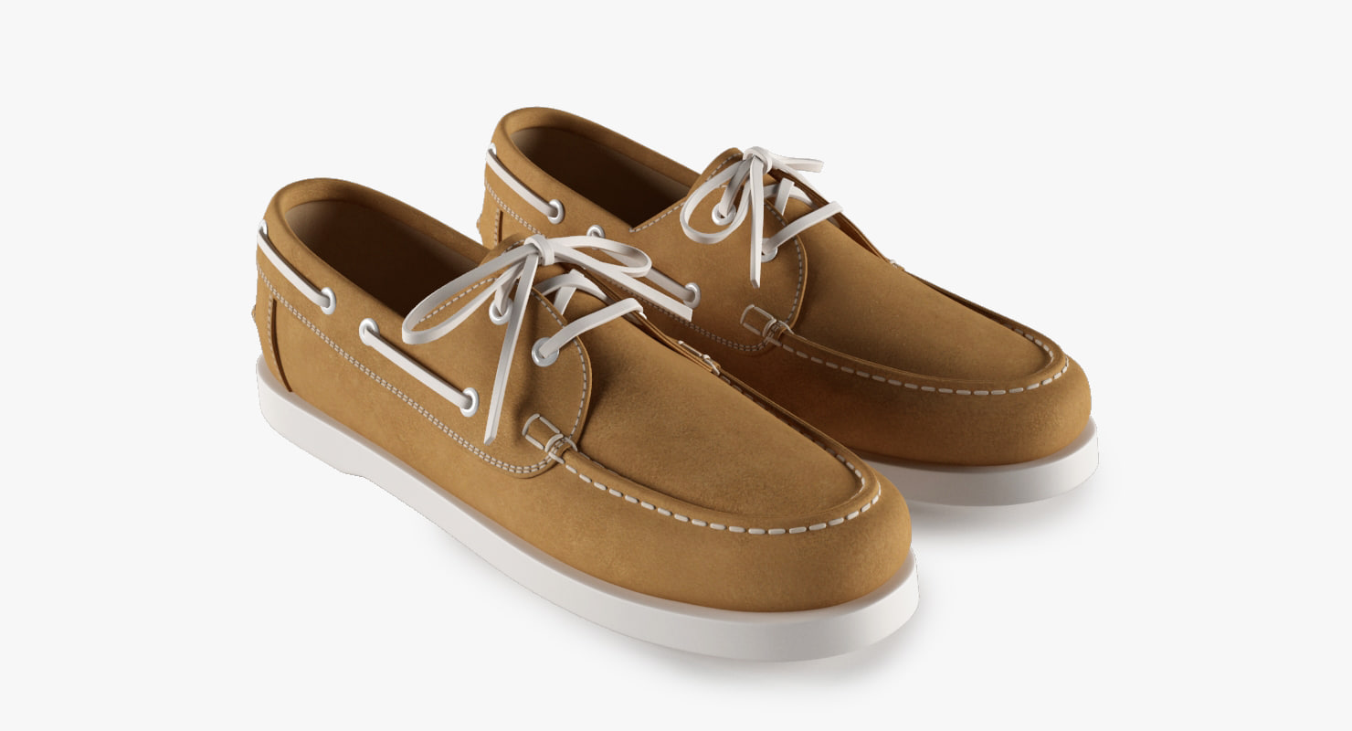 3d topsiders leather model