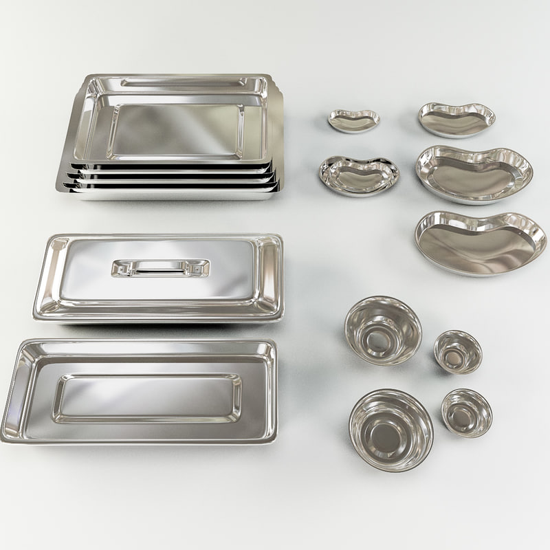 set medical trays 3ds free