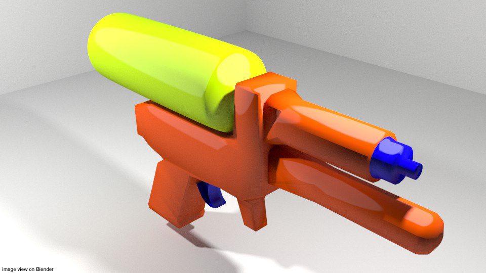 3d toy watergun model