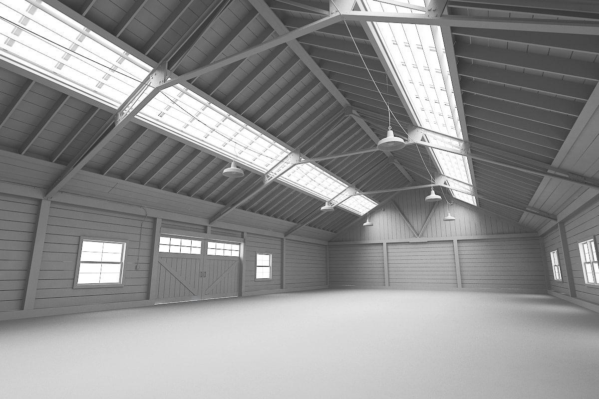 3d wooden warehouse