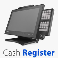 supermarket cash register 3d model