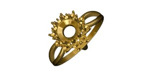 gold ring 3ds