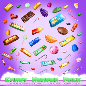 3d model lollipops candy cane