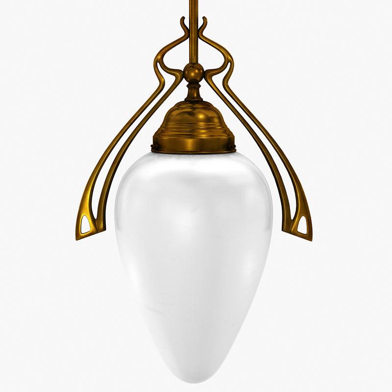 vintage corridor ceiling lamp 3d model