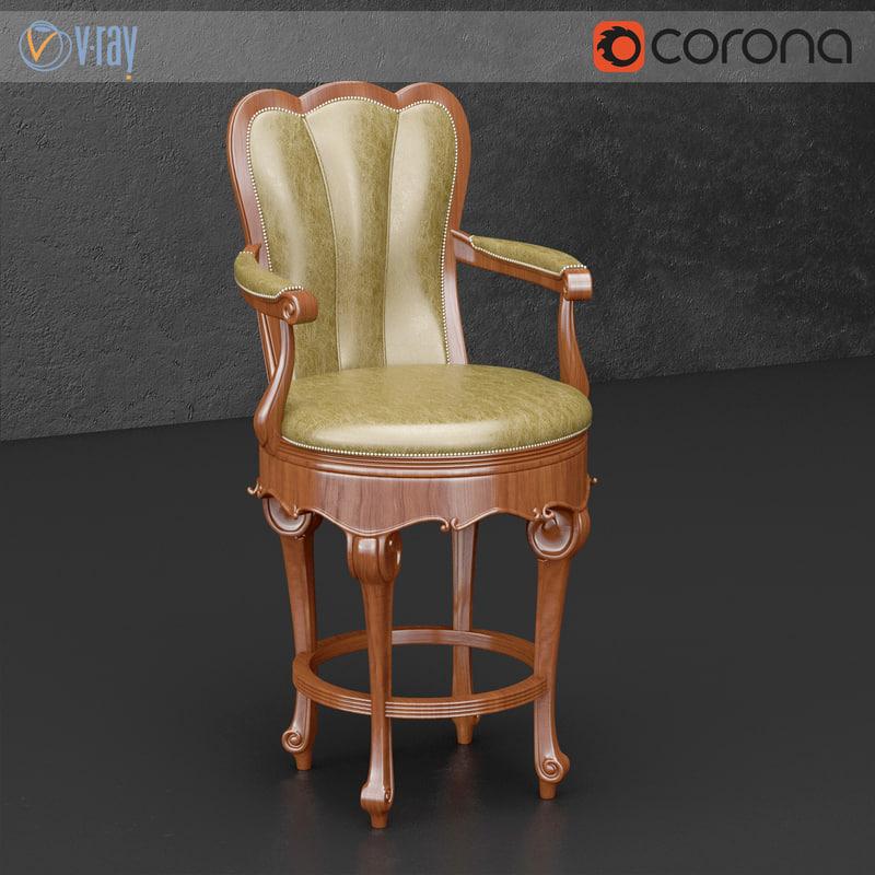 jonathan furniture bar chair 3d model