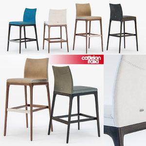 cattelan italia arcadia stool 3d model