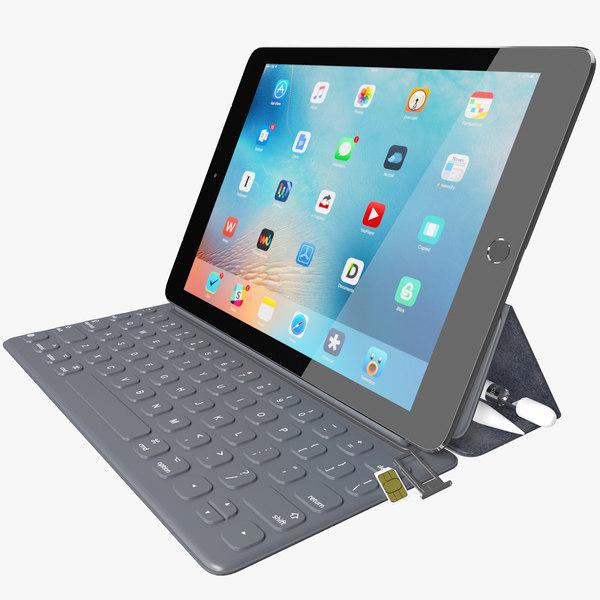 3d realistic apple ipad pro model