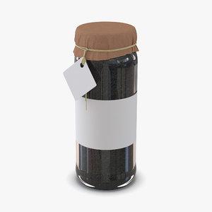 max black tea glass jar