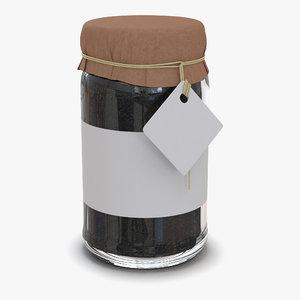 black tea glass jar 3d model