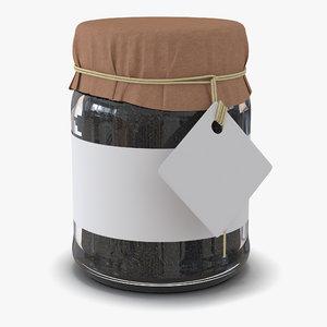 black tea glass jar max