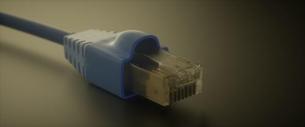 ethernet cable 3d c4d