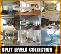 3d split levels 1 model