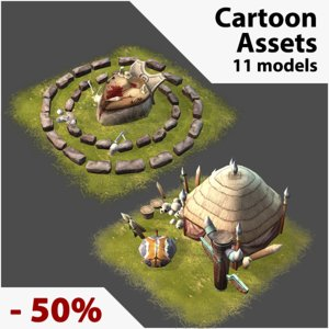 assets real-time 3d model
