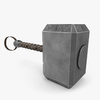 3d thor hammer model