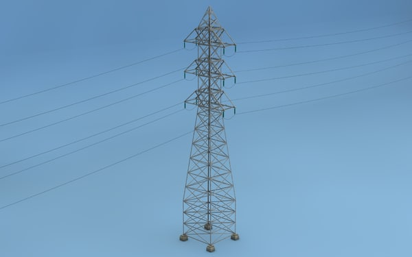 c4d tower electricity pylon