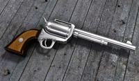 3d model gun colt
