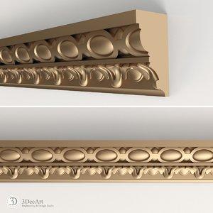 decorative molding interior 3d model