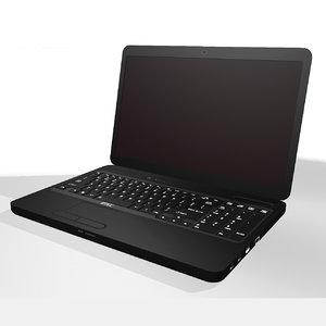 screen computer 3d model
