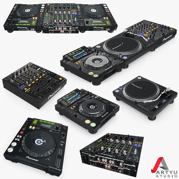 3d dj pioneer setup set