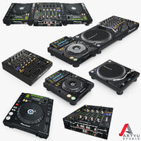 dj pioneer setup set 3d model