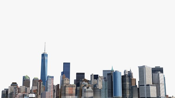 cityscape manhattan new york 3d model