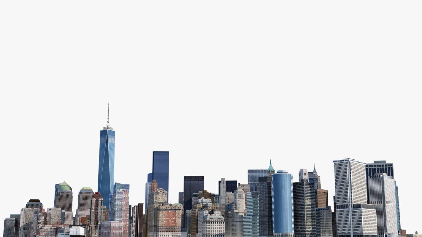cityscape manhattan new york 3d model