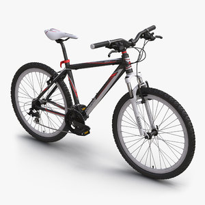 3d 3ds mountain bike red