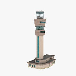 air control tower 3d model