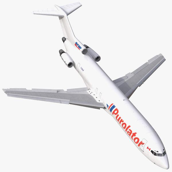 3d model boeing 727-200f kelowna rigged