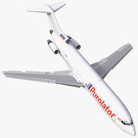 3d model boeing 727-200f kelowna rigged