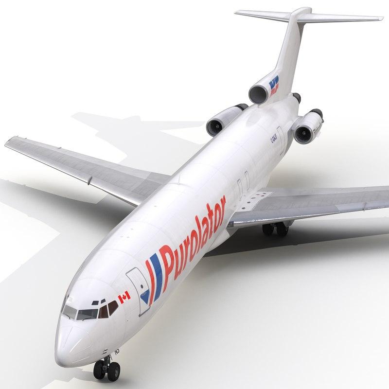 3d model boeing 727 200f kelowna