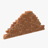 3d brick section 03 model