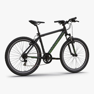 3d model mountain bike black