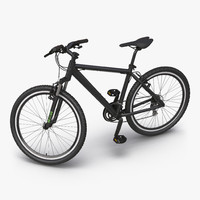 Mountain Bike Generic Black Rigged