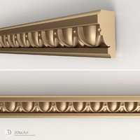 obj decorative molding interior
