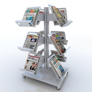 newspaper tree stand 3d 3ds