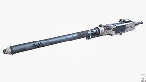 3d heavy plasma cannon gun