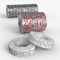 3d combination lock