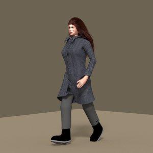 3d girl woman lady