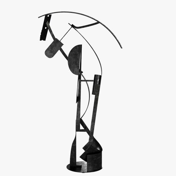 max sculpture corno abstract dance