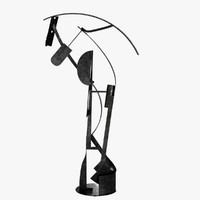 Alex Corno Dancing Star abstract metal sculpture