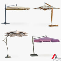 patio umbrella set 3d max