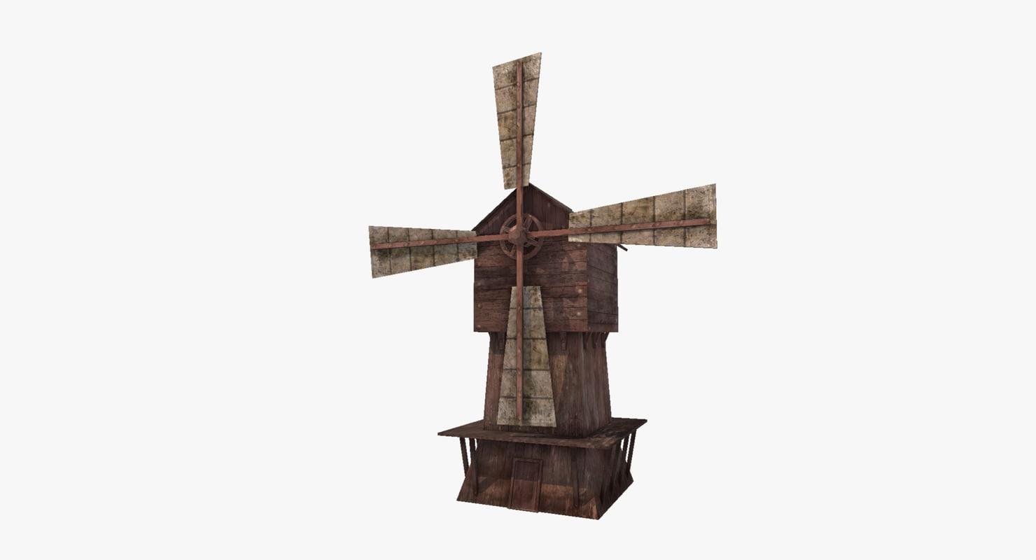 3d model windmill simple