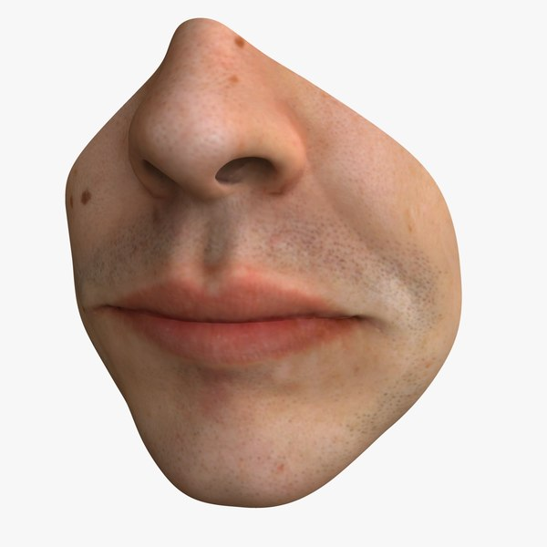 3d male mouth model