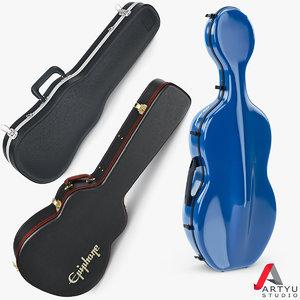 3d case viola cello guitar model