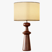 3d max turned wood table lamp